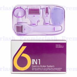 6 en 1 Microneedle Skin Nurse System Micro Roller Kit Skin Dermaroller Agujas Derma Estampilla Cicatrices para el acné Eliminación en venta