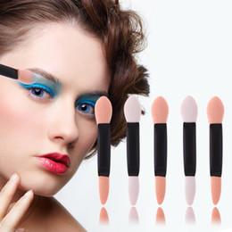 $enCountryForm.capitalKeyWord NZ - 100Pcs Set Brushes Disposable Double End Eyeshadow Sponge Brush Stick Eyebrow Eyeliner Lipgloss Lipstick Eyes Lips Applicator