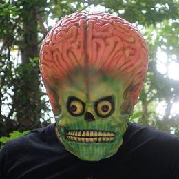 $enCountryForm.capitalKeyWord Australia - Scary Alien Brain Mask Latex Full Face Mask UFO Mars Cosplay Costume Martian Soldier Halloween Horror Decoration Props