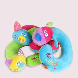 airplane sleeping pillow UK - Cute Cartoon Animal U-shaped Memory Travel Pillow Neck Support Headrest For Adults And Children Office Car Airplane Sleep