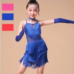 cadf83670af25 Latin Dance Dress for Kids Girls Fringe Ballroom Tango Samba Cha Cha Salsa  Dance Competition Dresses Latin Dancewear for Girls
