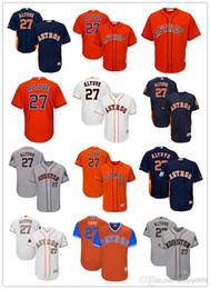 be6deb326 Men s Astros 27 Jose Altuve Majestic Navy Alternate Cool Base Player Houston  women kids Jersey