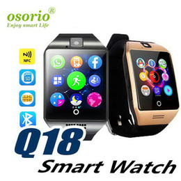 ups trackers NZ - 1 PCS Q18 Smart Watch Bluetooth Smart watches for Android Cellphones Support SIM Card Camera Answer Call and Set up Various Language