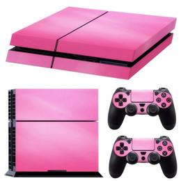 playstation controller skins Australia - Pink Vinyl Decal Skin Sticker Cover For PS4 Playstation 4 Console & 2 Controller