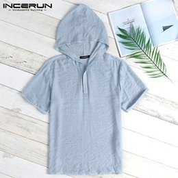 White Hiphop Clothing Australia - Chic Tee Tops Casual T Shirts Men Clothing Hiphop Hoody T-Shirts Men Hoodies Shorts Sleeve Loose Joggers Tops Camisa Summer