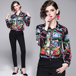 $enCountryForm.capitalKeyWord Australia - Top Selling Runway Women's Luxury Fashion Floral Print Blouses Shirts Spring Fall Office Lady Sexy Slim Street Style Celebrity Shirts Tops