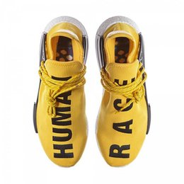 Discount human race lighting shoes - 2019 Pharrell Williams HU NMD Designer Trainers Trail Human Race For Mens Women Shoes Yellow Black White Running Sports
