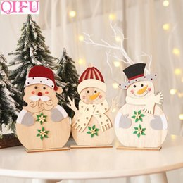 black gold table decorations Australia - QIFU Merry Christmas Ornaments Christmas 2019 Navidad Table Decorations For Home Noel 2019 Natal Santa Claus Ornament