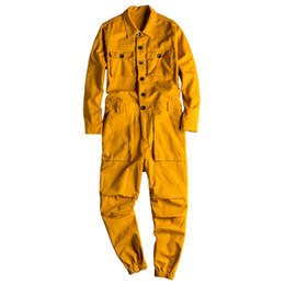 silver overalls Australia - MORUANCLE Fashion Men's Jean Bib Overalls Hip Hop Jumpsuits With Multi Pockets Workwear Coveralls Suspender Pants For