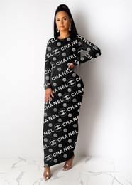 Wholesale hot womens night dresses for sale – plus size womens one piece dress long sleeve winter skirt sexy dress Maxi dresses high quality slim dress elegant luxury night wear hot klw2477