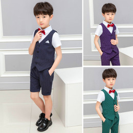 $enCountryForm.capitalKeyWord Australia - 2019 new hot summer children's clothing   explosion models boys shirt pants vest three-piece suit   into the store to choose more styles