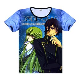 japanese summer clothing UK - 2019 Code Geass Lelouch of the Rebellion T Shirt Anime Japanese Famous Animation Novelty Summer Men's T-shirt Cosplay Clothing