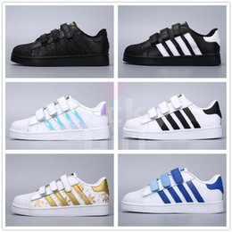 Pink star shoes baby online shopping - 2019 Children Superstar shoes Original White Gold baby kids Superstars Sneakers Originals Super Star girls boys Sports Casual Shoes