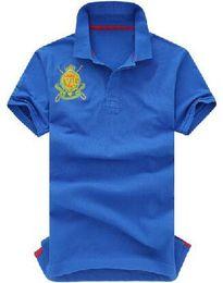 $enCountryForm.capitalKeyWord Australia - Buy America Fashion Men Polo Shirts With Big Pony Short Sleeve Cotton Solid Polos Classic Sports Shirt Tops Yellow White Blue S-XXL