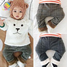 $enCountryForm.capitalKeyWord NZ - Lemonmiyu Baby Warm Pants Plaid Plus Velvet Spring Autumn Fashion Warm Legging Newborn Cotton Warm Thick Casual Trousers Outwear Y19061303