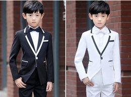 Handsome Kids Suits Australia - Popular One Button Notch Lapel Kid Complete Designer Handsome Boy Wedding Suit Boys Attire Custom-made (Jacket+Pants+Tie) A49