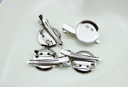 Double Clip For Hair Australia - hair Alligator clip accessories Metal Brooch Double combination disc Single Prong teeth clips for DIY hair bows flower clothing 50pcs FJ3219