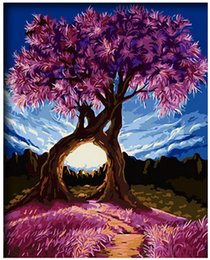"Discount wish paintings - Oil Paint DIY Painting By Numbers Kits Paint Adult Hand Painted-wishing Tree 16""x20"""