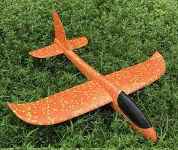 hand gliders NZ - Medium Cyclotron Hand-Tossed Airplane EPP Foam Drop-resistant Night Glider Cyclotron Airplane Model Toy Large Size
