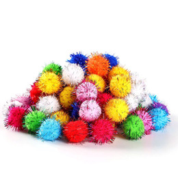 flowering ball toy NZ - 200Pcs Bag Multicolour Glitter Pompon Sparkly Plush Balls DIY Flower Crafts Toy Home Decor Decoration Bags Shoes Christmas Gift