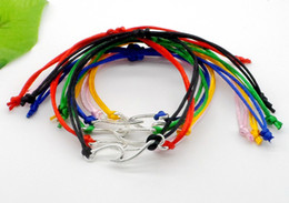 red string bracelet diy NZ - 20pcs lot Lucky String Wave Charms Lucky Red Cord Adjustable Bracelet DIY Jewelry NEW Gift