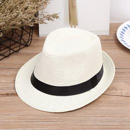 f6be0180f70 Black Men Fedora Hat Australia - High quality custom fedora straw sun hat  women or men