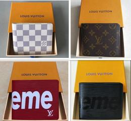 Großhandel Neue designer tote brieftasche aus hochwertigem leder männer kurze brieftaschen für frauen männer geldbörse handtaschen mit box