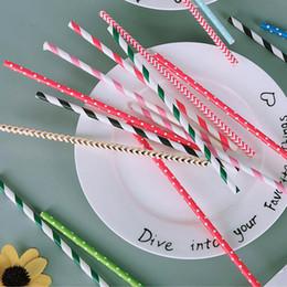 $enCountryForm.capitalKeyWord Australia - Color Art Paper Straws Food Grade Restaurant Bar Party Drink Disposable Straw Environmentally Friendly Creative Stripe Paper Straw 57