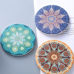 $enCountryForm.capitalKeyWord Australia - 2Pcs Folk-Custom Ceramic Cork Drink Cup Coasters 10CM Sun God Cup Mats Heat Resistant Anti-Scald Mug Coaster Tableware