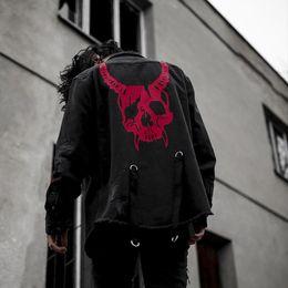 $enCountryForm.capitalKeyWord Australia - 2019 Denim Jeans Jacket Men Streetwear Hole Ripped Skull Printed Embroidery Autumn Vintage Jacket Coat Motorcycle Biker