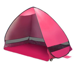 automatic fishing tent UK - Outdoor 2 fully automatic beach tent fast open sun shading double beach tent super light picnic waterproof fishing TS001