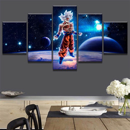 surface sprays UK - Dragon Ball Exoplanet Surface,5 Pieces HD Canvas Printing New Home Decoration Art Painting (Unframed Framed)