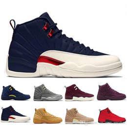 cf926e055f993e 12 12s mens basketball shoes Sunrise Bordeaux OVO Black Wolf Flu Game The  Master Taxi Playoffs French Blue Barons Gym Red Sports sneakers