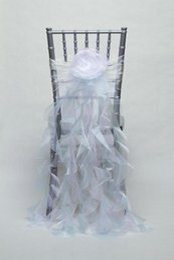 $enCountryForm.capitalKeyWord Australia - Custom Made Organza Ruffles Flower Wedding Chair Covers Beautiful Cheap Wedding Party Decorations Vintage Chair Sashes Supplies C05