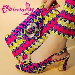 $enCountryForm.capitalKeyWord Australia - New beautiful Italian Shoes With Matching Bags African Women Shoes and Bags Set For Prom Party Summer Sandal