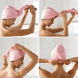 $enCountryForm.capitalKeyWord NZ - New Released Magic Quick Dry Hair Shower Caps Microfiber Towel Drying Turban Wrap Hat Caps Spa Bathing
