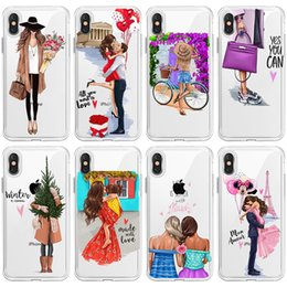 hot iphone girl Australia - Fahion New Designer Fundas IPhone11 Family Phone Cover Girl Phone Couple Case Tpu Hot Sale for Iphone 11 Pro Max Cell Phone Cases