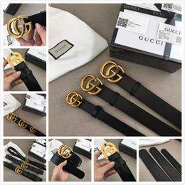g Venta caliente nuevo para mujer para mujer cinturón negro h Cinturones de cuero genuino de negocios Color puro cinturón serpiente hebilla patrón para regalo gg en venta