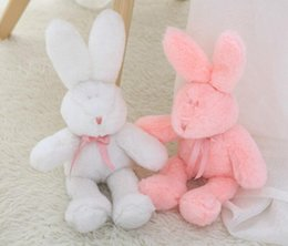 handmade rabbit toys 2019 - Rabbit Plush Toy Easter Soft Stuffed Animal Rabbit Sleeping Cute Cartoon Plush Toy Stuffed Decorative Pillow Children Bi