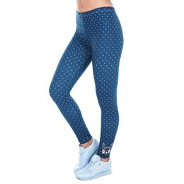 deer leggings Australia - Cheap Leggings Printed Women Freeride Deer Dots Legging High Waist Legins Elastic Silm Fit Women Pants Leggings