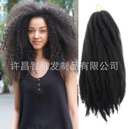 $enCountryForm.capitalKeyWord Australia - Marley braids black viscera crochet hair caterpillar 24 inch fluffy head