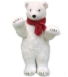 White stuffed animal bears online shopping - Pop Realistic Animal Polar Bear Plush Toy Lovely Stuffed Anime White Bears Doll Gift for Kid Decoration inch cm