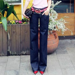 Loose Cotton Clothes NZ - 2018 new spring and autumn office lady brand plus size loose cotton female women girls wide leg pants trousers clothes 79114