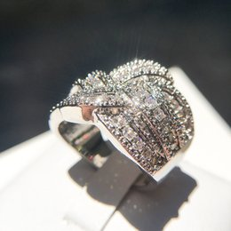 011f198477b9 Fashion Weave Winding Design real 5A Micropave Crystal Zircon stone 925  sterling silver Engagement Ring for women Luxury jewelry