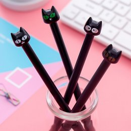 $enCountryForm.capitalKeyWord Australia - Black cat cartoon gel pen 0.5mm black children Writing Pen Office Eexamination Limited Office Material School Supplies wholesale Free E-PACK