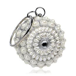 $enCountryForm.capitalKeyWord Australia - Dgrain Luxury Dazzling Crystal Women Evening Clutch Bags Box Handbags Round Diamond Cocktail Clutch Pearl Wedding Party Bridal Handbag Bag
