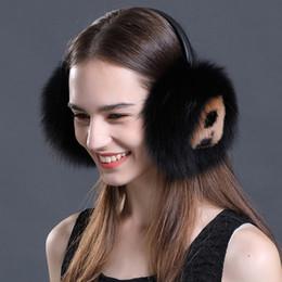 Discount ear accessories korea - Winter Accessories for Wmen Rex Rabbit Hair Earmuffs With Smiling Face Fox Fur Ear Warmers Korea Fashion Ear Cover Fluff