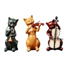 Wholesale Ornaments ornaments gentlemen cats ornaments European style living room bedroom wine set resin craft gifts