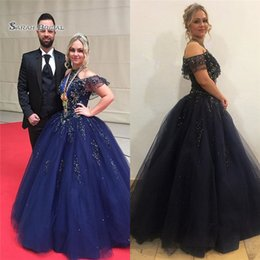 Pear Color Dress Australia - 2019 Halter Appliques Tulle Beads Prom Dresses Sleeveless High End Quality Evening Party Dress Hot Sales
