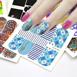 Decals Stickers Pack Australia - tickers nail art 12 Sheets Pack Mixed Flower Cat Ladybug etc Designs Water Transfer Sticker Nail Art Decals Beautiful DIY Decor Temporary...